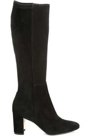 Manolo Blahnik Women's Pita Tall Suede Boots - - Size 35 (5)