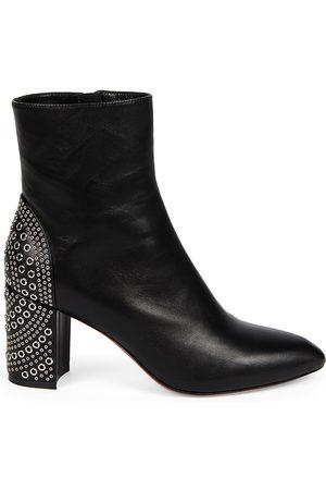 Alaïa Women's Grommet Leather Ankle Boots - - Size 41 (11)