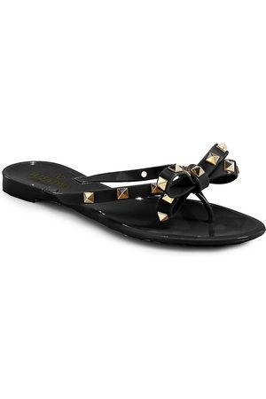 VALENTINO Women's Garavani Rockstud Bow Jelly Thong Sandals - - Size 37 (7)