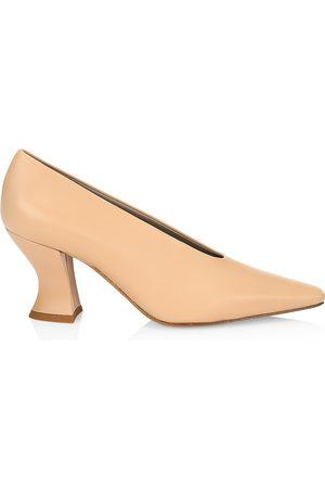 Bottega Veneta Women's Almond Leather Pumps - - Size 36.5 (6.5)