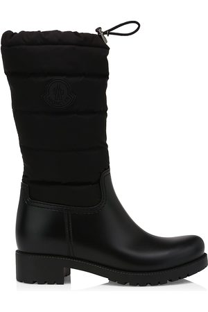 Moncler Women Thigh High Boots - Women's Ginette Drawstring Quilted Tall Boots - - Size 7