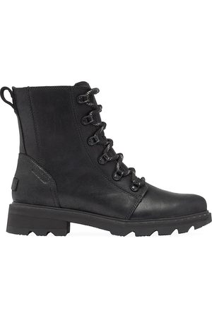 sorel Women's Lennox Leather Combat Boots - - Size 9.5
