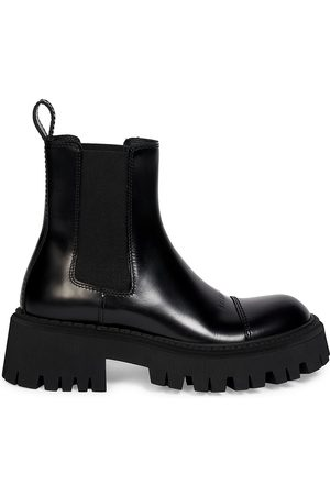 Balenciaga Women's Tractor Leather Lug Sole Ankle Boots - - Size 35 (5)