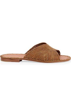 Carrie Forbes Women's Naturel Raffia Slide Sandals - - Size 38 (8)