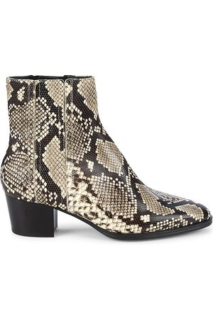 Tod's Women's Python-Embossed Leather Ankle Boots - - Size 40 (10)