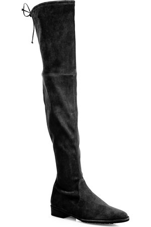 Stuart Weitzman Women's Lowland Over-The-Knee Suede Boots - - Size 4.5