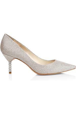 SOPHIA WEBSTER Women's Coco Embellished-Heel Glitter Pumps - - Size 38 (8)