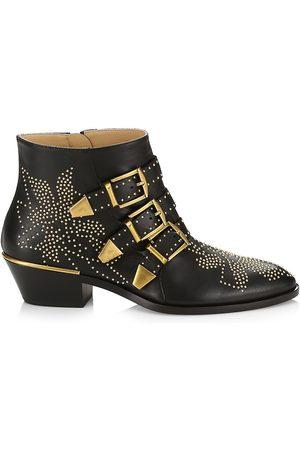 Chloé Women's Susanna Studded Leather Ankle Boots - - Size 41.5 (11.5)