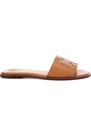 Tory Burch Women's Ines Flat Leather Sandals - - Size 9