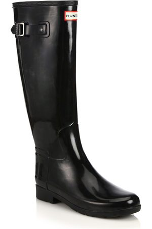 Hunter Women's Refined Tall Gloss Rain Boots - - Size 5