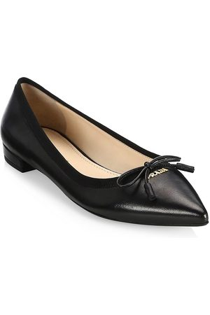 Prada Women's Leather Ballet Flats - - Size 40 (10)