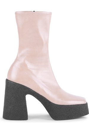 Stella McCartney Women's Square-Toe Platform Mid-Calf Boots - - Size 40.5 (10.5)