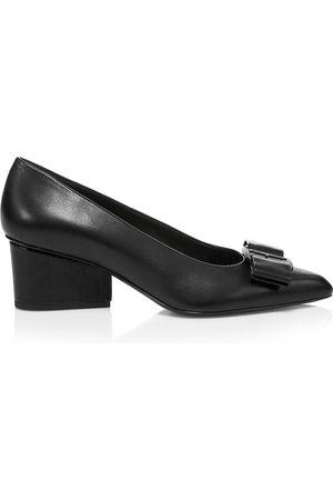 Salvatore Ferragamo Women's Viva Bow Leather Pumps - - Size 10.5