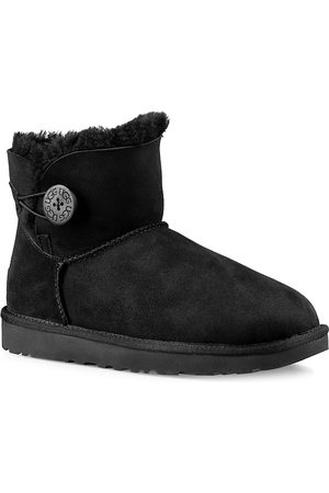 UGG Women's Mini Bailey Button Sheepskin-Lined Suede Ankle Boots - - Size 7