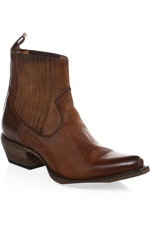 Frye Women's Sacha Western Leather Ankle Boots - - Size 6
