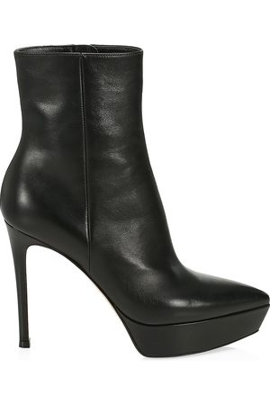 Gianvito Rossi Women's Dasha Leather Platform Ankle Boots - - Size 41 (11)