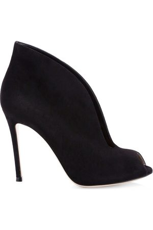 Gianvito Rossi Women's Vamp Notched Suede Ankle Boots - - Size 42 (12)