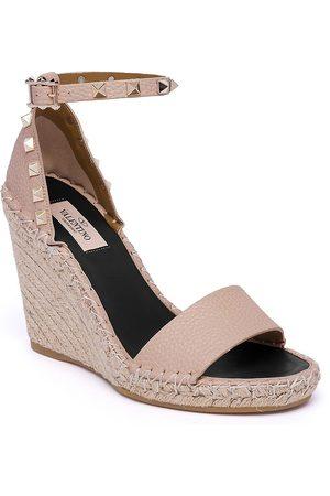 VALENTINO Women's Garavani Rockstud Espadrille Wedge Sandals - - Size 41 (11)