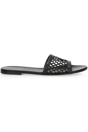 Gianvito Rossi Women's Mesh Leather Slides - - Size 39.5 (9.5) Sandals