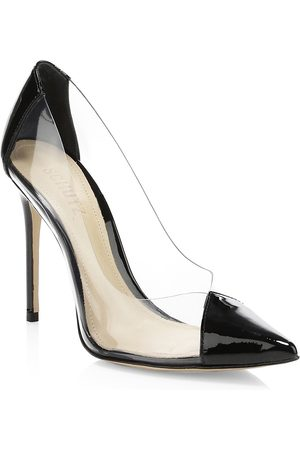 Schutz Women's Cendi Vinyl & Patent Leather Pumps - - Size 8.5