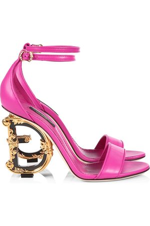 Dolce & Gabbana Sculpted-Heel Leather Sandals