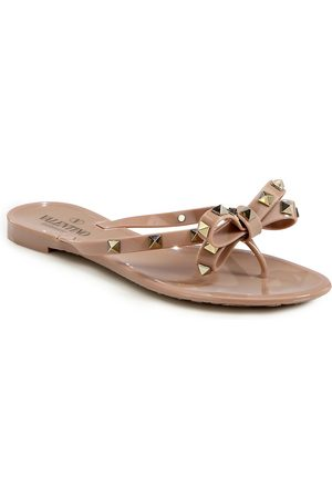 VALENTINO Women's Garavani Rockstud Bow Jelly Thong Sandals - - Size 40 (10)
