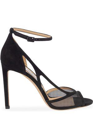 Jimmy Choo Women's Liu Mesh & Suede Sandals - - Size 41 (11)