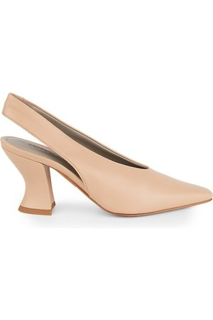 Bottega Veneta Women's Almond Leather Slingback Pumps - - Size 35 (5)