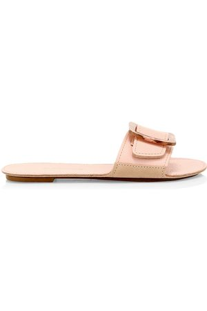 DEFINERY Women's Loop Leather Flat Sandals - - Size 35 (5)