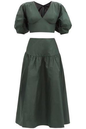 Julie De Libran Gilda Silk-taffeta Top And Skirt - Womens