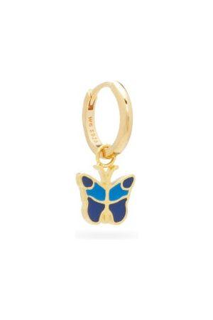 WILHELMINA GARCIA Butterfly 18kt -vermeil Single Hoop Earring - Womens