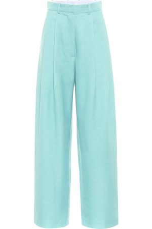 DODO BAR OR High-rise wide-leg wool-blend pants