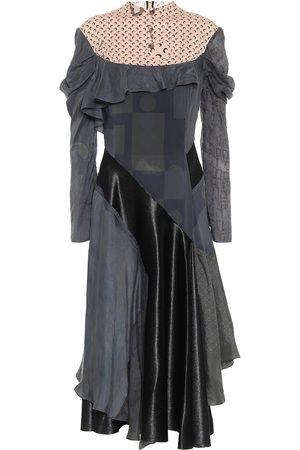 Marine Serre Printed silk-blend midi dress