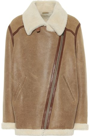 Isabel Marant, Étoile Azare leather and shearling jacket