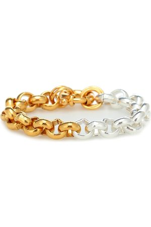 Timeless Pearly 24kt -plated sterling chain bracelet
