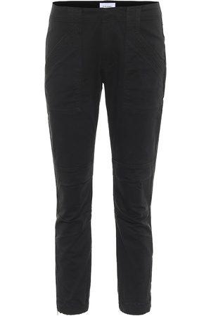 Frame Moto mid-rise slim jeans