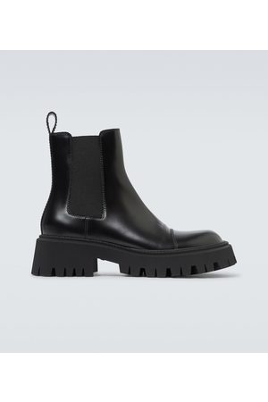 Balenciaga Tractor leather boots