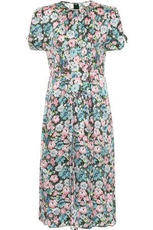 Marc Jacobs Floral silk jacquard midi dress