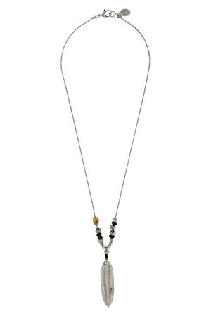 Gas Bijoux Plume grave necklace