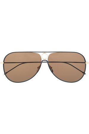 Thom Browne TBS115 aviator-frame sunglasses
