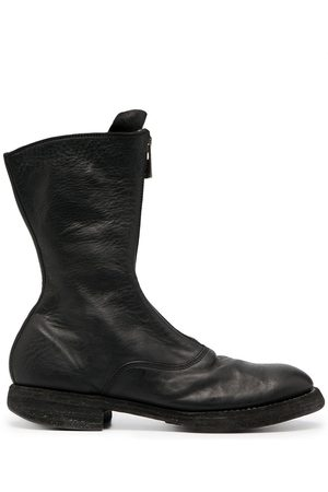 GUIDI Front zip leather army boots