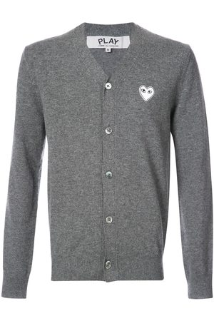 Comme des Garçons Cardigan with white heart - Grey