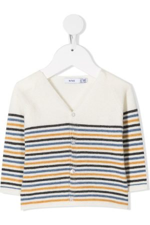 KNOT Cardigans - V-neck striped cardigan - Neutrals