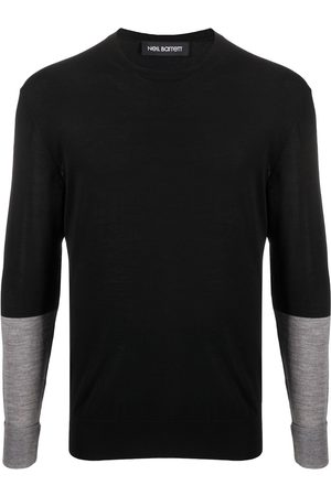 Neil Barrett Two-tone crew-neck jumper