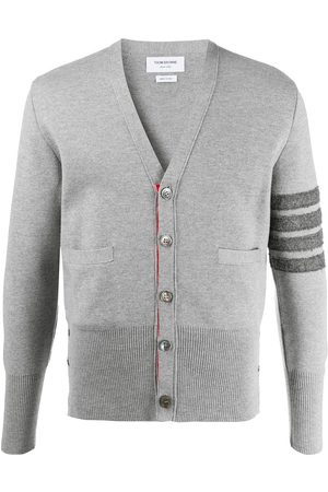 Thom Browne 4-Bar V-neck cardigan - Grey