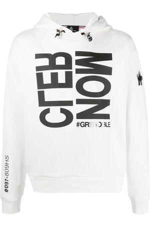 Moncler Logo print rib-trimmed hoodie