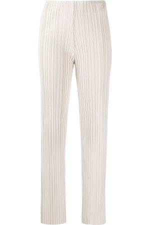 Nanushka Straight-leg pleated trousers - Neutrals