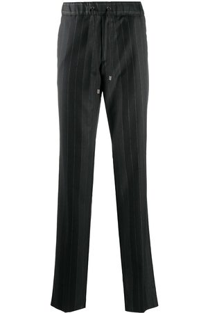Etro Striped drawstring-waist trousers - Grey