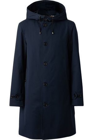 Burberry Single-breasted hooded coat