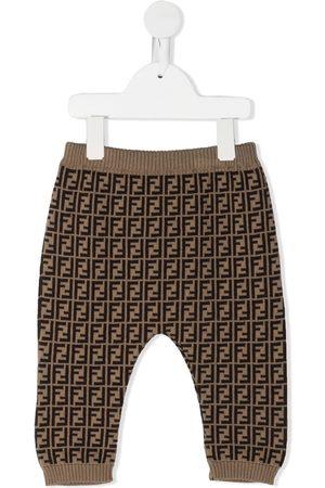 Fendi FF motif trousers